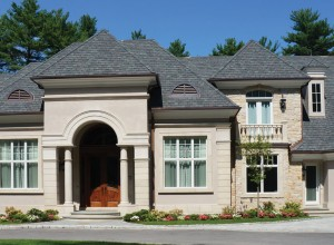 Traditional Home with Cast Stone Trim