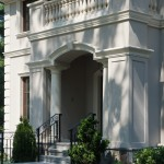 Cast Stone Arched Trim and Balusters