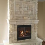 The Lexington Cast Stone Fireplace Mantel with New England Veneer Stone