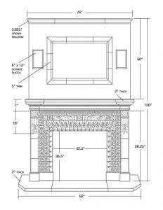 Cape Neddick Fireplace Dimensions