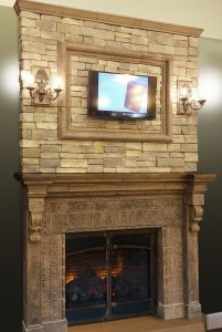 Cape Neddick Fireplace with Overmantel