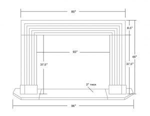 Classic Deco Fireplace Mantel Dimension