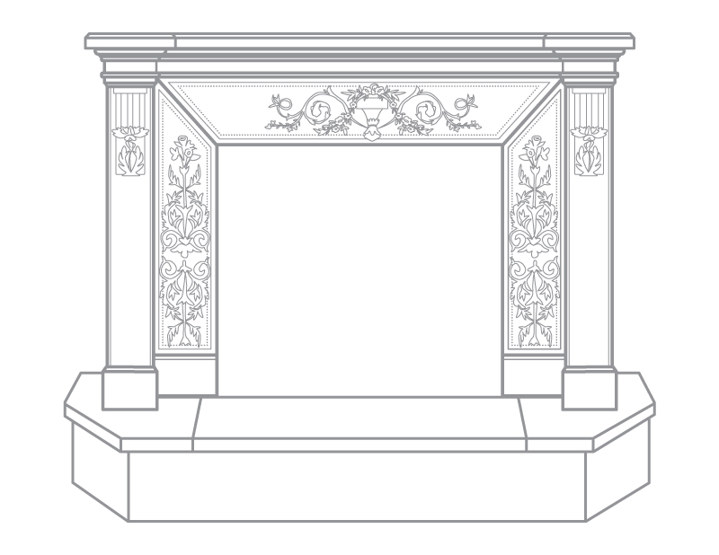 Tuscany Fireplace Raised Mantel