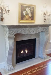 Vincenza Fireplace with Claw Foot