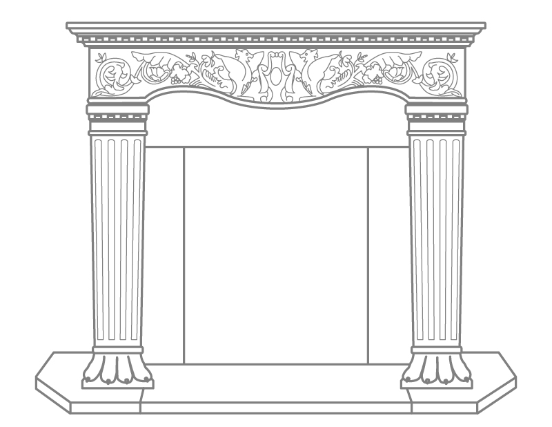 Vincenza Fireplace Mantel Cornerstone Architectural