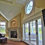 Vincenza Fireplace Mantel in beautiful Ipswich home. Home design by architect Laine M. Jones AIBD.