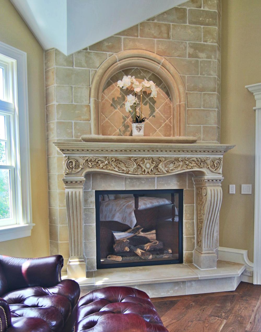 Vincenza Fireplace Mantel Cornerstone Architectural