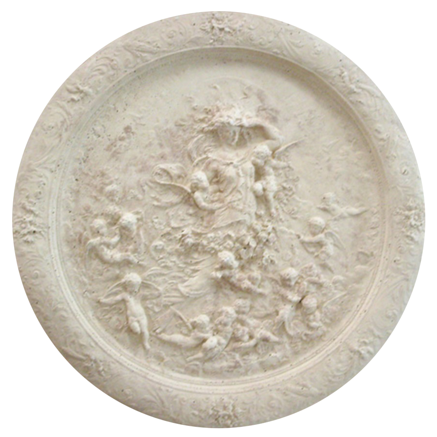 Angel and Cherubs Cast Stone Medallion