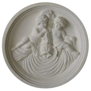 Cherub Cast Stone Medallion