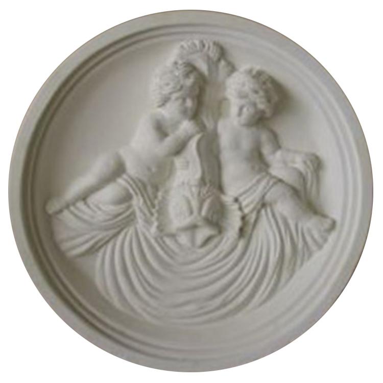 Cherub Cast Stone Medallion