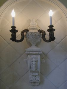 Harbor Island cast stone wall sconce