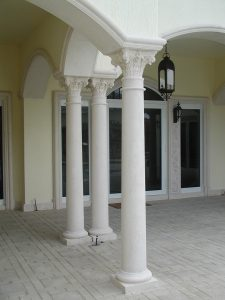 Harbor Island Corinthian columns