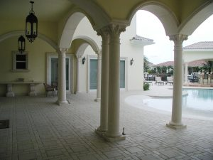 Harbor Island Corinthian columns and arches