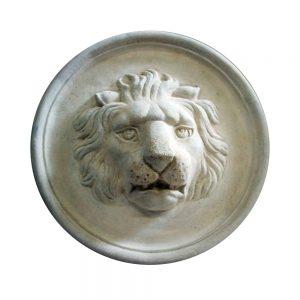 Lion Cast Stone Medallion