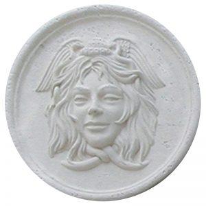 Medusa Cast Stone Medallion