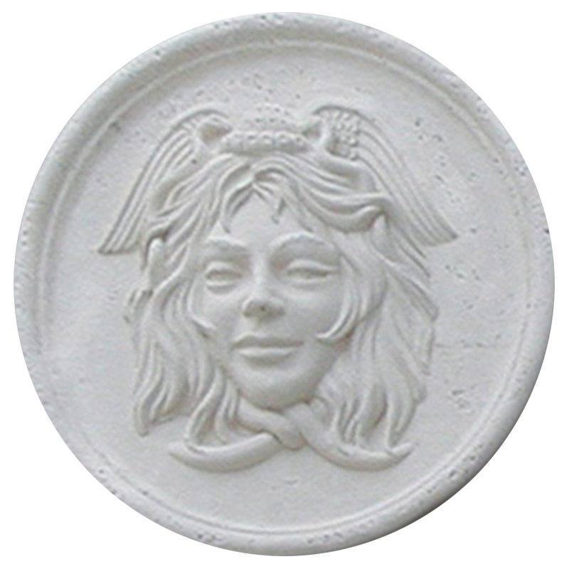 Medusa Cast Stone Medallion