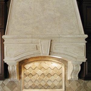 Naples Cast Stone Range Hood