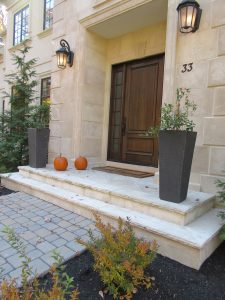 Brookside Haven floor tiles and steps