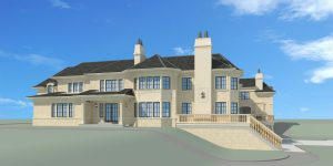 New Jersey Castle Rendering Side Elevation