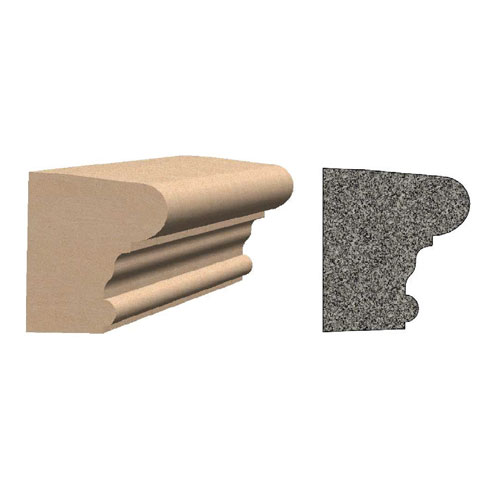 """3"""" Cast Stone Wainscoting Sill"""