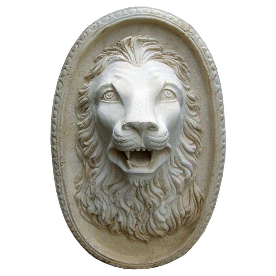 Lion Cast Stone Plaque